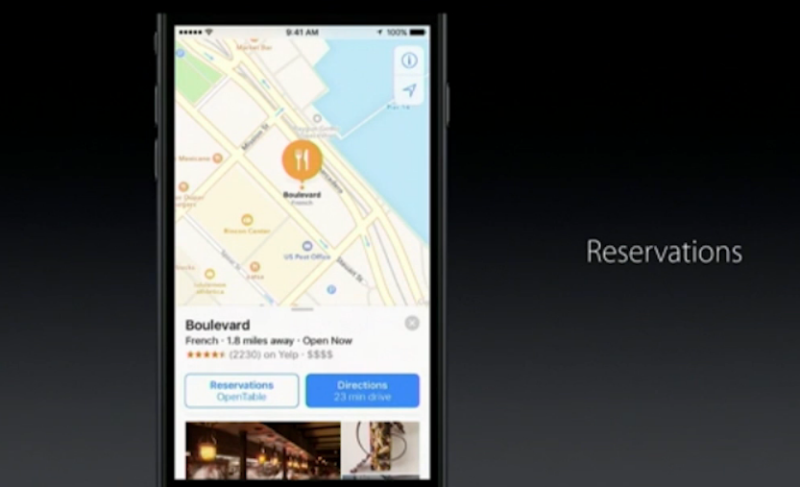 Apple Maps reservations