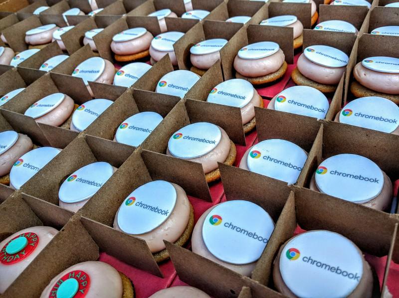 Google Chromebook birthday cookies