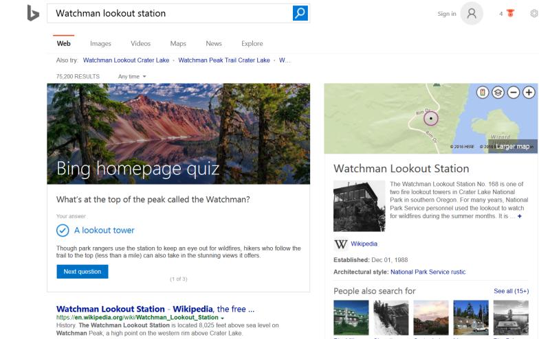 Bing quiz