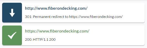 HTTP 301 redirect to HTTPS
