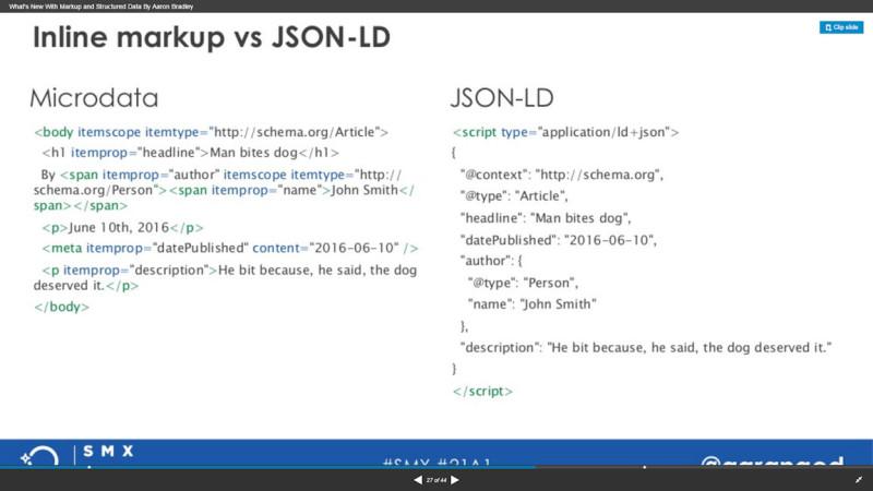 Inline Markup vs. JSON-LD