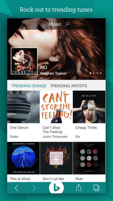 Bing search app update