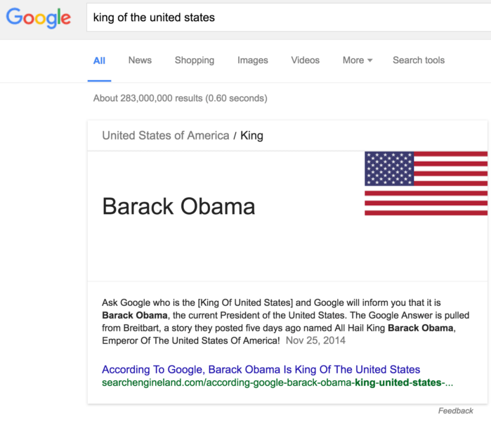 king of the united states