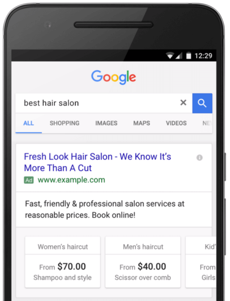 google-adwords-price-extensions-swipeable-cards