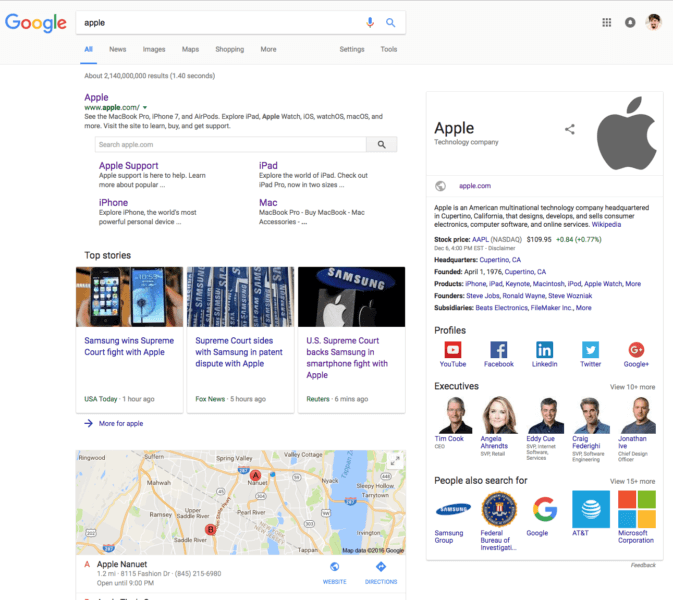 google-new-interface