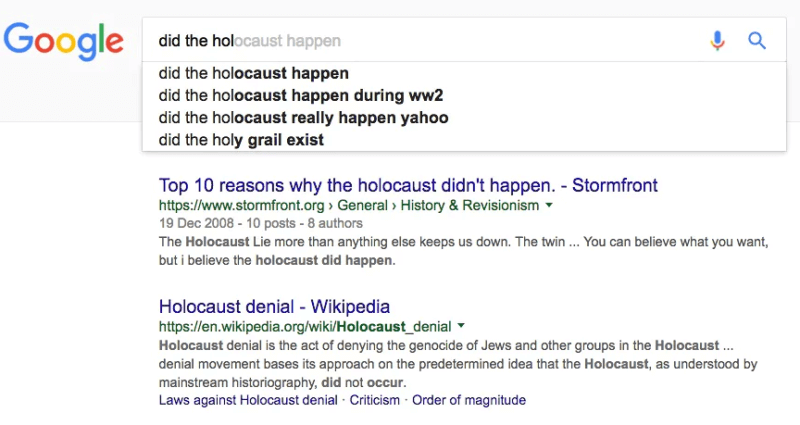 google holocaust