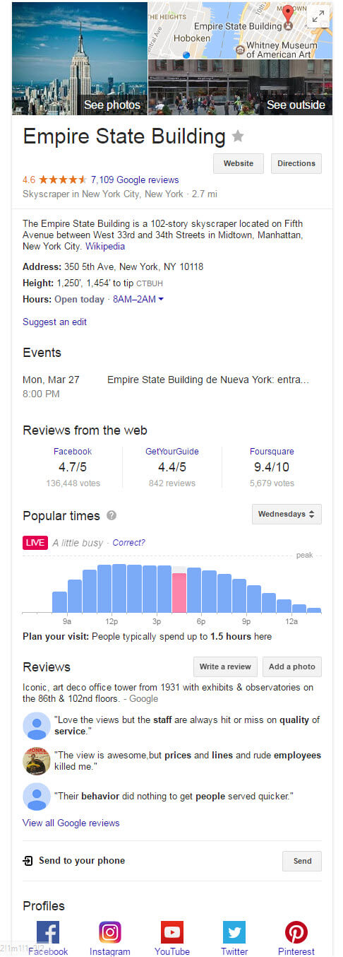 Empire State Building Hybrid Knowledge Graph panel